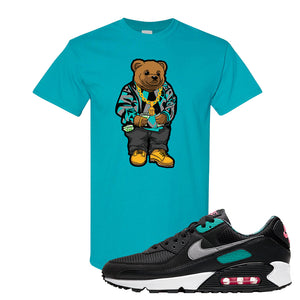 Air Max 90 Black New Green T Shirt | Sweater Bear, Tropical Blue