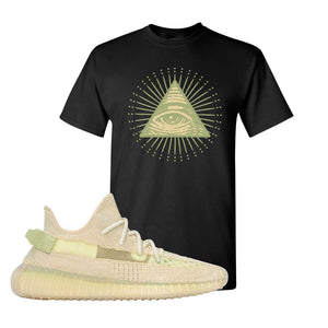 Yeezy Boost 350 V2 Flax T-Shirt | Black, All Seeing Eye