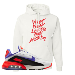 Air Max 2090 Evolution Of Icons Hoodie | Vibes Speak Louder Than Words, White