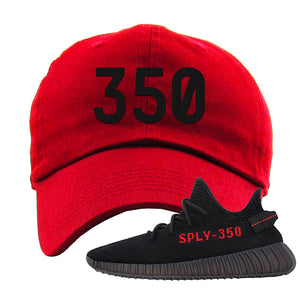 Yeezy 350 Boost V2 Bred Dad Hat | 350, Red