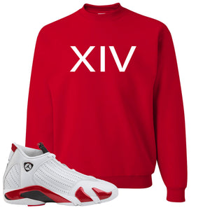 Jordan 14 Rip Hamilton XIV Red Crewneck Sweater