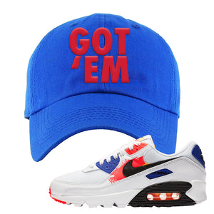 Air Max 90 Paint Streaks Dad Hat | Got Em, Royal Blue