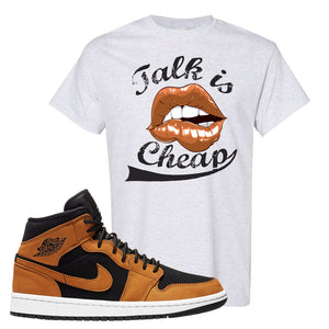 Air Jordan 1 Mid Wheat T Shirt | Talk Is Cheap, Ash