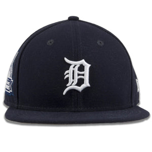 Detroit Tigers Championship Victories Patch Navy Blue 9Fifty Snapback Hat