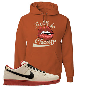 SB Dunk Low Muslin Hoodie | Talk Is Cheap, Texas Orange