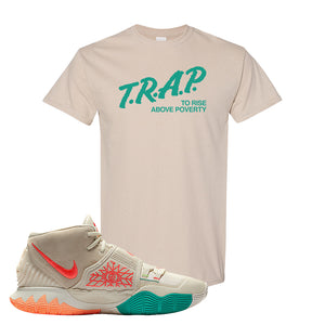 Kyrie 6 N7 T Shirt | Sand, Trap To Rise Above Poverty