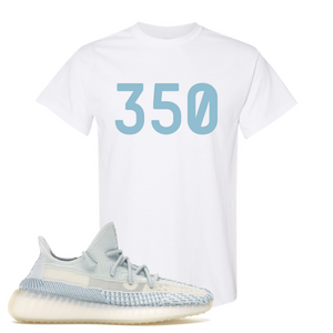 Yeezy Boost 350 V2 Cloud White Non-Reflective 350 Sneaker Matching White T-shirt