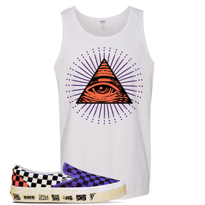Vans Slip On Venice Beach Pack Tank Top | White, All Seeing Eye