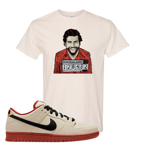 SB Dunk Low Muslin T Shirt | Escobar Illustration, Natural