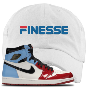 Air Jordan 1 Fearless Finesse White Made to Match Distressed Dad Hat