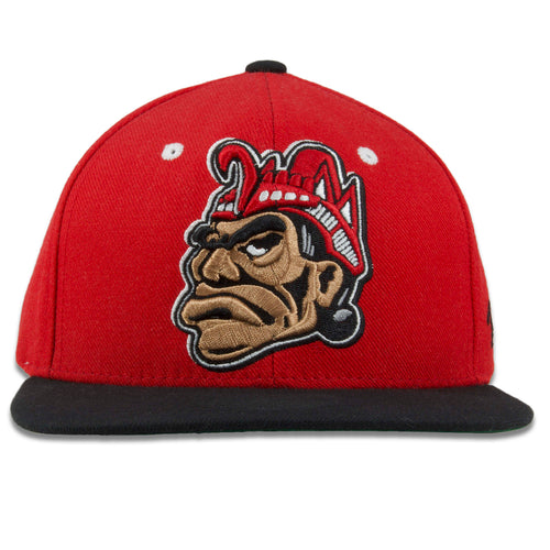 San Diego State Aztecs Red on Black Adjustable Snapback Hat