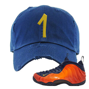 Foamposite One OKC Distressed Dad Hat | Navy Blue, Penny One