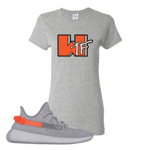 Yeezy Boost 350 V2 Tail Light Sneaker Gravel Women's T Shirt | Women's Tees to match Adidas Yeezy Boost 350 V2 Tail Light Shoes | WTF