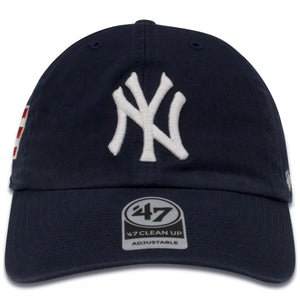 New York Yankees Puretro Rico Flag Heritage Navy Blue '47 Brand Clean Up Dad Hat
