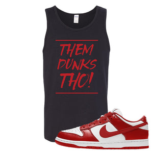 SB Dunk Low St. Johns Tank Top | Them Dunks Tho, Black