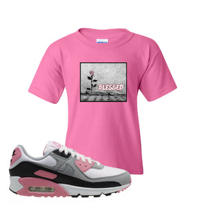 WMNS Air Max 90 Rose Pink Blessed Rose Azalea Kid's T-Shirt To Match Sneakers