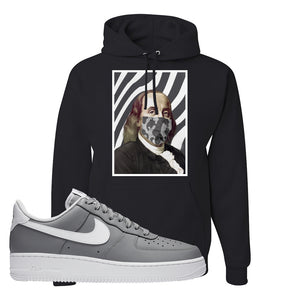 Air Force 1 Low Wolf Grey White Hoodie | Black, Ben Franklin Mask
