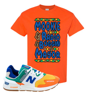 997S Multicolor Sneaker Orange T Shirt | Tees to match New Balance 997S Multicolor Shoes | Mookie And Gang