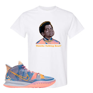 Kyrie 7 Expressions T-Shirt | Watchu Talkin Bout, White