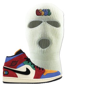 Jordan 1 Mid Fearless Blue The Great Blue White Sneaker Hook Up Ski Mask