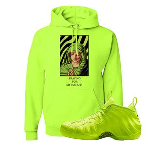 Air Foamposite Pro Volt Hoodie | God Told Me, Safety Green
