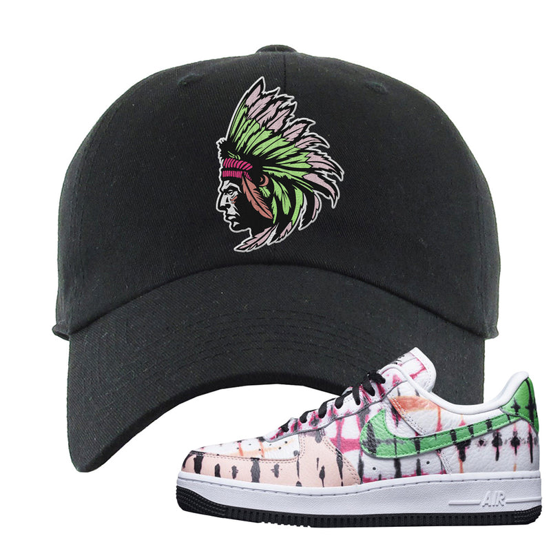 Air Force 1 Low Multi-Colored Tie-Dye Dad Hat | Black, Indian Chief