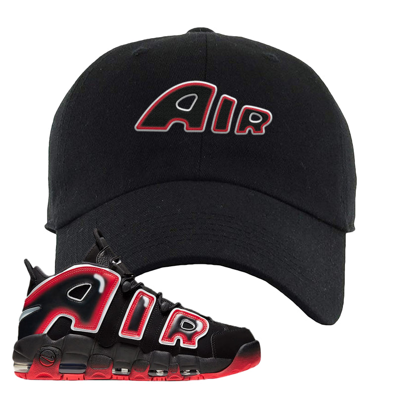 Air More Uptempo Laser Crimson Dad Hat | Black, Air From The Sneaker