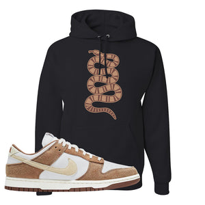 Dunk Low Medium Curry Hoodie | Coiled Snake, Black