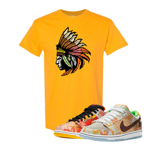 SB Dunk Low Street Hawker T Shirt | Indian Chief, Gold