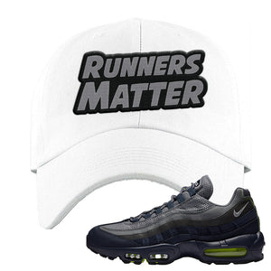 Air Max 95 Midnight Navy / Volt Dad Hat | White, Runners Matter