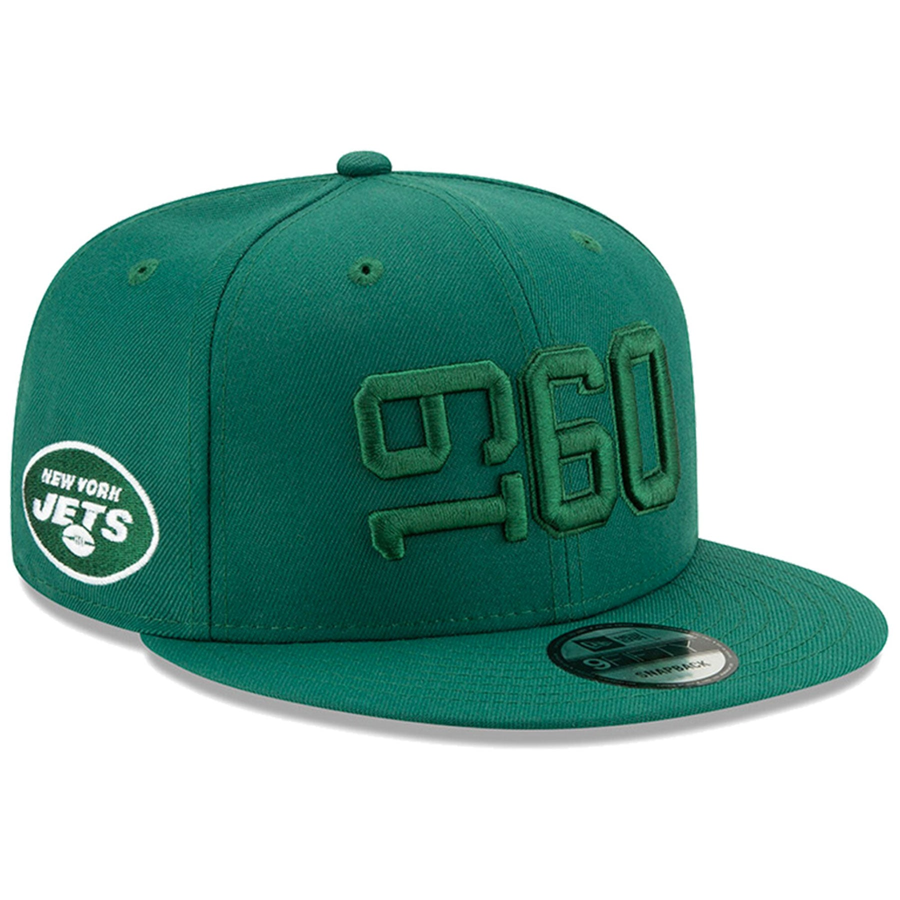 half off 96312 adc2f New York Jets New Era 2019 NFL On Field Sideline Color Rush 9FIFTY  Adjustable Green Snapback Hat