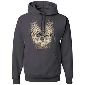Standard Issue We The People Bald Eagle Gray Pullover Grunt Life Hoodie
