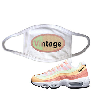 Air Max 95 WMNS Melon Tint Face Mask | White, Vintage Oval
