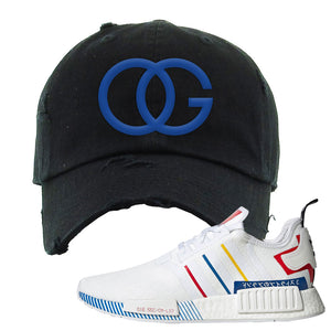 NMD R1 Olympic Pack Distressed Dad Hat | Black, OG