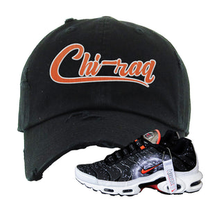 Air Max Plus Supernova 2020 Distressed Dad Hat | Black, Chiraq