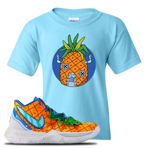Kyrie 5 Pineapple House Kid's T-Shirt | Sky Blue, Pineapple House