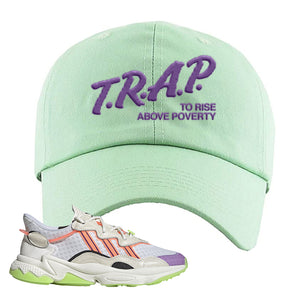 Ozweego Chaos Dad Hat | Sage Green, Trap To Rise Above Poverty