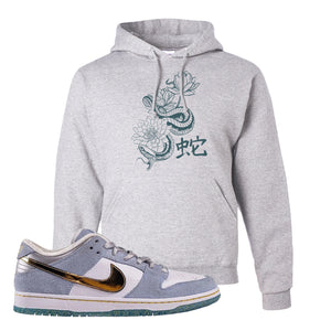 Sean Cliver x SB Dunk Low Hoodie | Snake Lotus, Ash