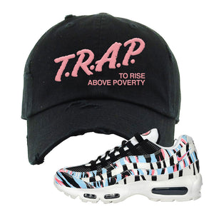 Air Max 95 Korea Tiger Stripe Distressed Dad Hat | Black, Trap To Rise Above Poverty
