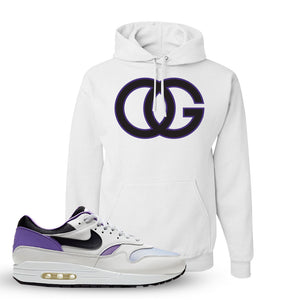 Air Max 1 DNA Series Sneaker White Pullover Hoodie | Hoodie to match Nike Air Max 1 DNA Series Shoes | OG