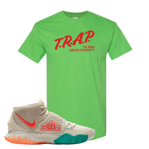Kyrie 6 N7 T Shirt | Electric Green, Trap To Rise Above Poverty