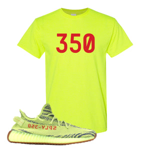 350 Safety Green T-Shirt to match Yeezy Boost 350 V2 Frozen Yellow Sneaker