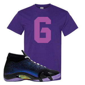 Jordan 14 Doernbecher T Shirt | Purple, Number 6