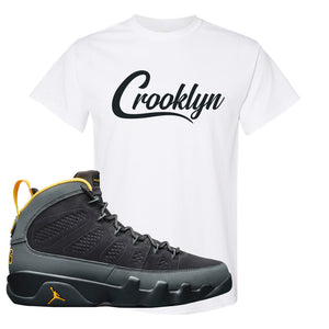 Air Jordan 9 Charcoal University Gold T Shirt | Crooklyn, White