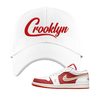 Air Jordan 1 Low Spades Dad Hat | Crooklyn, White