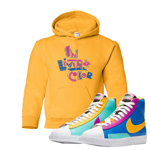 Blazer Mid Big Kids Hoodie | Gold, In Living Color