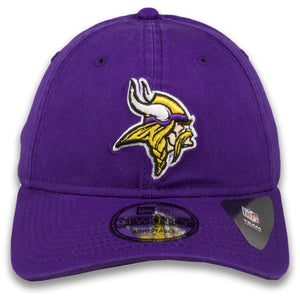 Minnesota Vikings Classic Team Logo Adjustable Purple 9Twenty New Era Dad Hat