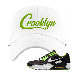 Air Max 90 Exeter Edition Black Dad Hat | Crooklyn, White