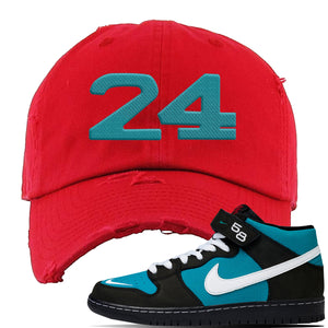 SB Dunk Mid Griffey Distressed Dad Hat | Red, 24