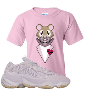 Yeezy 500 Soft Vision Yeezy Sneaker Mask Light Pink Sneaker Hook Up Kid's T-Shirt